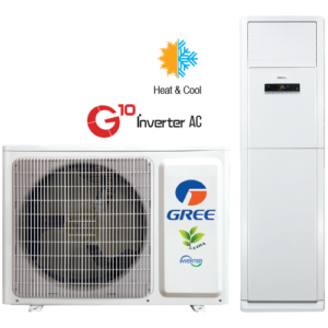 Gree 4.0 Ton– GF-48FWITHAA+ Low Voltage Startup Heat And Cool Inverter Floor Standing Cabinet